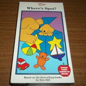 VERY RARE DISNEY WHERE'S SPOT? VHS